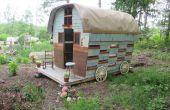 Zigeunerwagen aus geborgenen Materialien gebaut