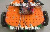 Zeile folgenden SRK-Roboter mit 3D-gedruckte Teile