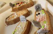 Vanille Kokos Halloween Sarg Cupcakes mit Butter Creme Zuckerguss