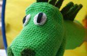 Häkeln einer niedlichen Dinosaurier Marionette
