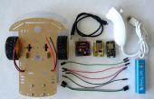 Esp8266 und Visuino: WiFi-Fernbedienung Smart-Auto-Roboter mit Wii Nunchuck