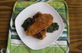 Gedünstetes Hähnchensteak mit Spinatsauce (pakistanische Innovation)