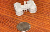 3D-Druck Miniatur Colonial Williamsburg Gebäude: das Capitol