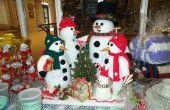 Häkeln und stricken Schneemann Familie