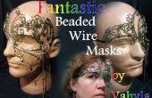 Fantastische Perlen Draht Masken