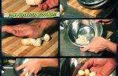Wie man eine Knoblauch-Italienisch Essen sauber