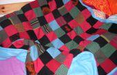 Warme Decke aus alten Pullover