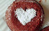 Geschmolzene Schokolade Lava-Kuchen