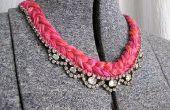 DIY-Thread und Edelstein Halskette