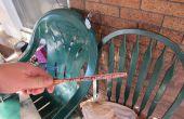 Begradigen verzogene Tischtennis Schläger (Schläger, Schläger, Raquet) mit einer DIY-Fledermaus-Presse