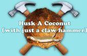 Wie man eine Kokosnuss (mit nur einem Zimmermannshammer) schälen