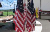 Flag-Diorama-Base: 7-Flag einstellbare Winkel Bouquet