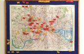 Wähle dein Abenteuer | London Karte & Flag gesetzt