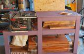 Tischkreissäge Werkbank mit Holzlager