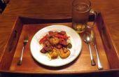 PECAN geräucherte Wurst & Garnelen IN einer KREOLISCHEN Senf SAUCE mit Paprika & Zwiebeln