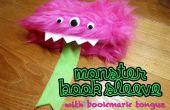 Monster-Buch-Hülle mit Lesezeichen Zunge
