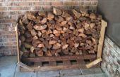 Die 30 Minuten Brennholz Rack - Palette Stil