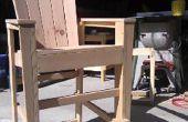 Bar Höhe Adirondack Stühle aus Altholz