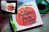 Halloween Kürbis Gesicht Buch Vorlage