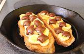 Erdnussbutter Banane Schokolade Sandwiches