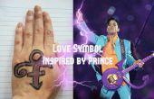 Liebe Symbol Gesicht malen (in Anlehnung an Prinz)