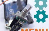 Einfach Arduino Menüs für Drehgeber