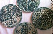Strukturierte Keramik Untersetzer
