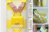DIY Schuhe Tutorial: Louis Vuitton gelb kariert Drucken