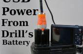 USB-Stromversorgung von Drill Batterie