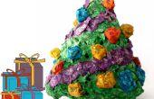 Mini-Papiermache leuchtender Weihnachtsbaum