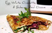 Eiweiß-Omelette mit Balsamico rote Zwiebeln