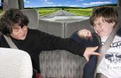 Familie Road-Trips: Baue eine Masking Tape Mauer zu verhindern, dass Rücksitz Langeweile