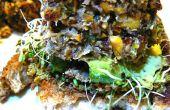 Pikante Tilapia Quinoa Burger verkrustet mit Mandel