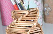 Machen Sie eine wunderschöne Stifthalter aus Magazinpapiere