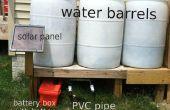 Solar betriebene Pumpe für Wasserfässer