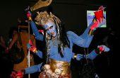 Sechsarmigen Göttin Kali-Kostüm