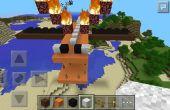 Wie erstelle ich ein einfaches Flying Dragon Haus auf Minecraft