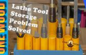 Drechseln Drehbank Werkzeug Speicher Probleme in diesem einfachen Holz-Projekt-Video