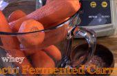 Keine Molke Lacto fermentierte geriebene Karotten