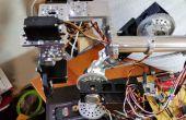 Hausgemachte Roboterarm mit Normteilen mit Arduino und eine Verarbeitung GUI