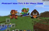 Minecraft wie-zu: 8 Bit Mario Scene
