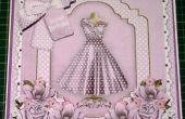 Wie zu einem stilvollen lila Kleid Decoupage 8 Zoll & Insert Card