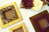 DIY-Bilderrahmen aus Pappe und Schokolade Wrapper