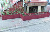 Individuell geformte Pflanzerkasten aus alten Zunge in Grove Brettern