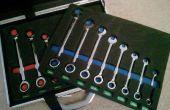 Fall für Schraubenschlüssel mit benutzerdefinierten Schnitt Schaumstoffeinlage
