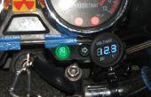 Motorrad-Voltmeter