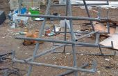 Bauen ein Bauholz Storage Rack aus Fetzen Fechten