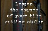 Verringern die Chance, Ihr Fahrrad gestohlen