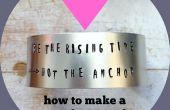 Wie erstelle ich eine Metall gestempelt Manschette Armband