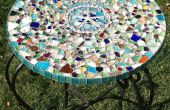 Meer-Glas-Mosaik-Tischplatte
